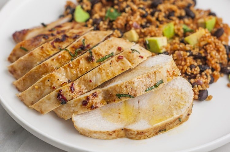 Cilantro Lime Chicken with Mexican Quinoa