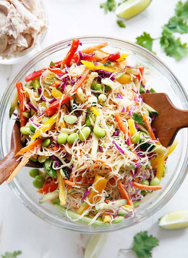 55 Healthy Summer Side Dishes - Cold Asian Noodle Salad