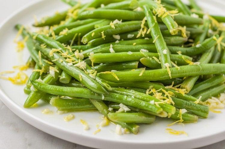 Easy Garlic Lemon Green Beans