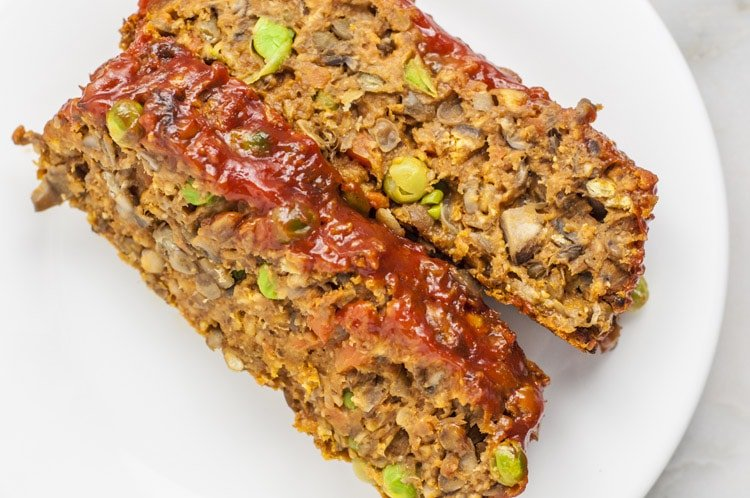 Mushroom Lentil Loaf | Vegan Meatloaf Recipe