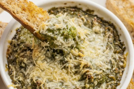 Parmesan Eggplant and Spinach Dip  | Healthy Dip Recipe