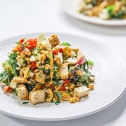 How to Make the Best Savory Southwest Tofu Egg Scramble