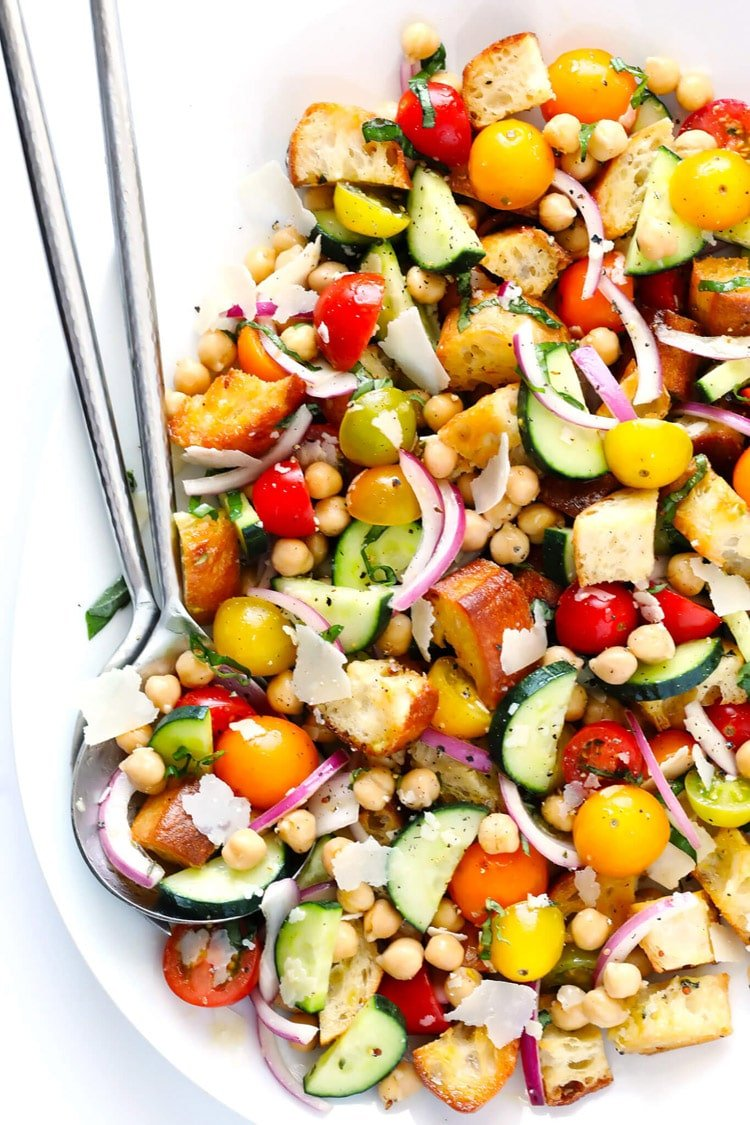 55 Healthy Summer Side Dishes - Summer Panzanella