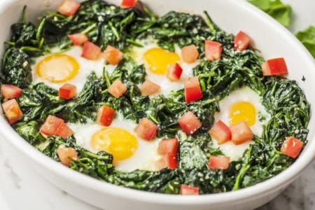 Spinach Parmesan Baked Eggs Recipe