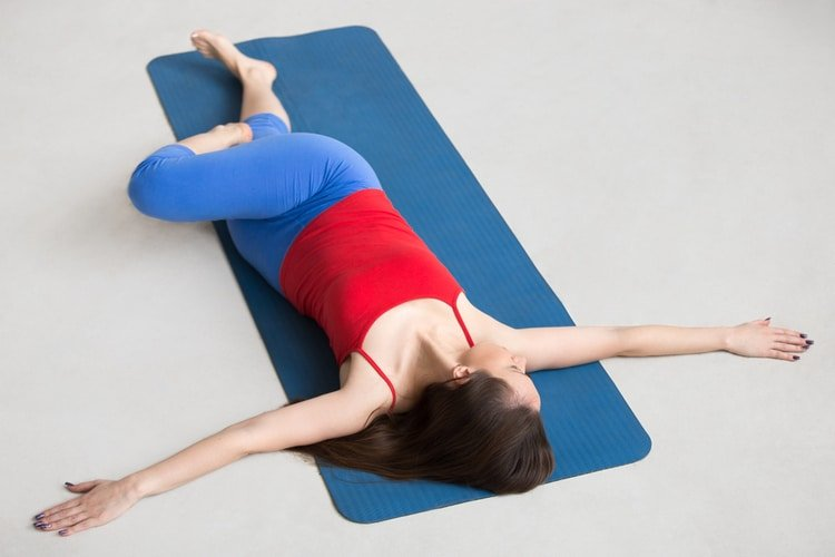 supine twist for back pain relief