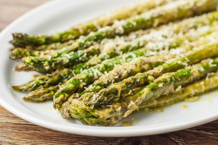 This dijon roasted asparagus is a great side for this scampi.