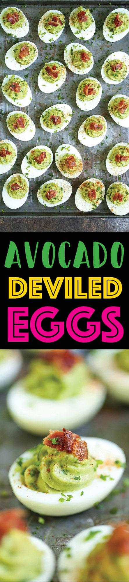 high protein deviled eggs snack recipe