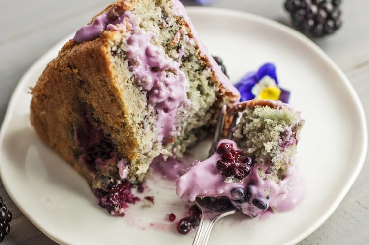 Coconut Blackberry Cake