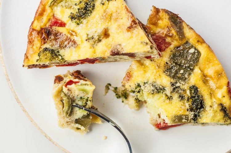 Crustless Vegetable Quiche Recipe