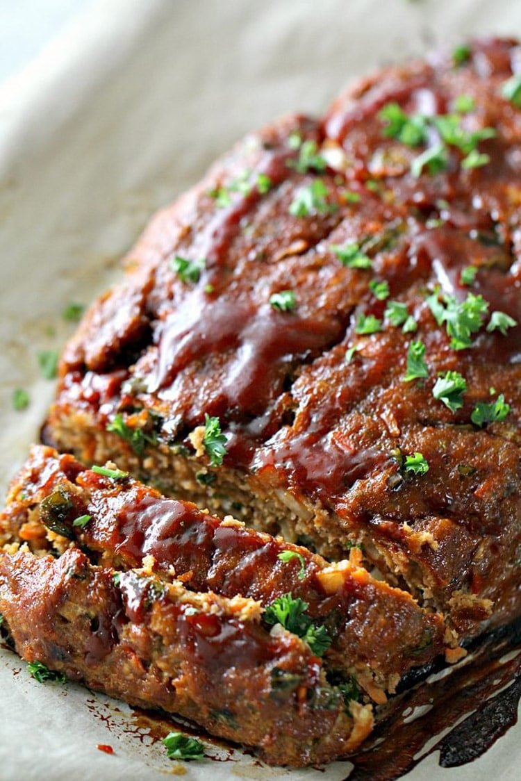 turkey ground meatloaf glazed dinner recipes recipe dinners pan sheet sisters six beans freezer meat stuff mix using healthy meal