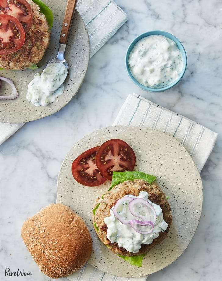 Greek turkey burgers for lunch or dinner