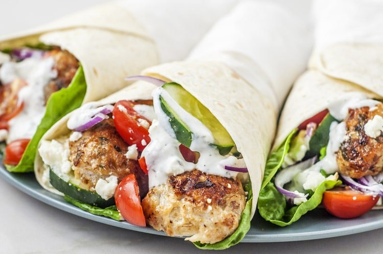 This Mediterranean Chicken Kofta Wrap is all about the herbs and spices