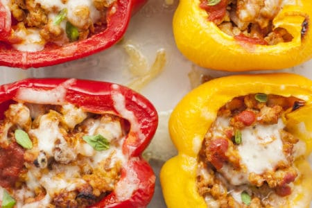 Stuffed Bell Pepper Pizzas