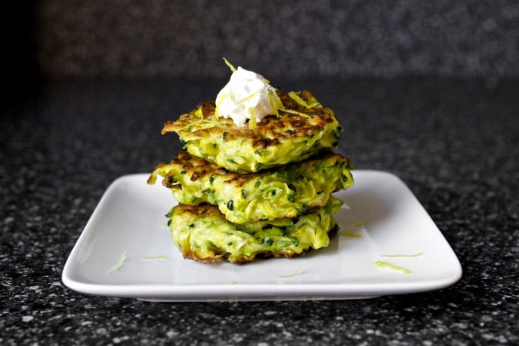 zucchini fritters make a great healthy snack