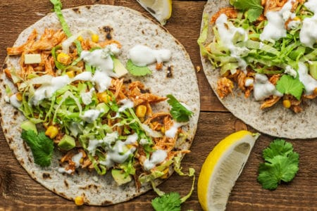 Skinny Buffalo Chicken Tacos