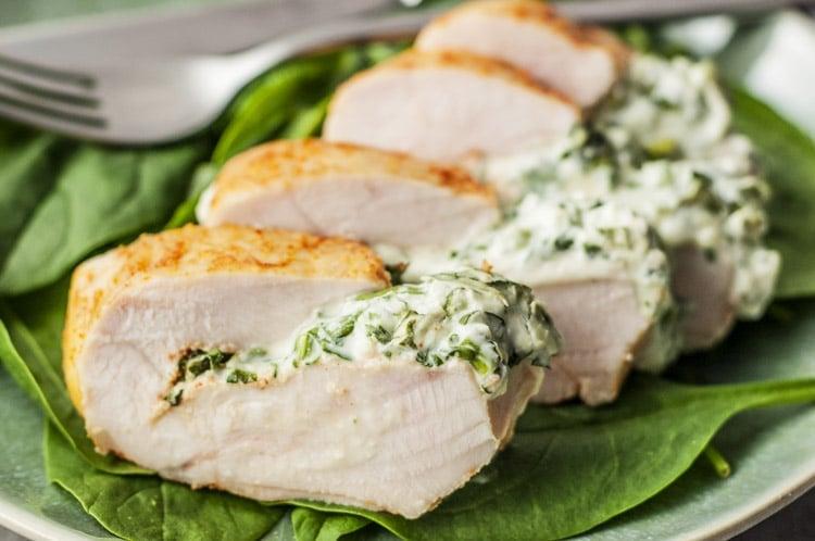 Skinny Spinach Stuffed Chicken Breast