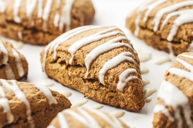 Sweet Gingerbread scones that are perfect for Christmas morning!