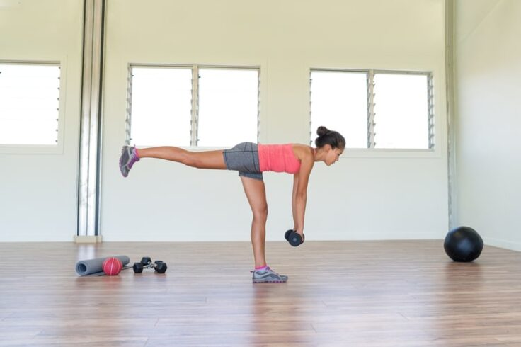 Single-leg deadlifts are a good exercise for your hamstrings, glutes, and back!