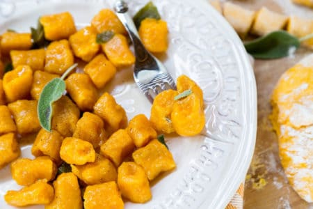 Squash Gnocchi with Sage Butter Sauce
