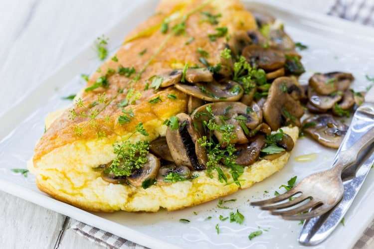 Souffle Omelette with Mushrooms