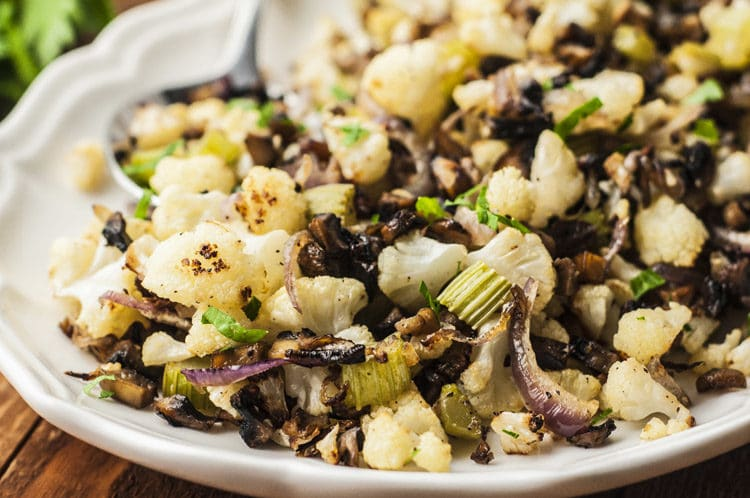 Low-Carb holiday stuffing made with cauliflower!