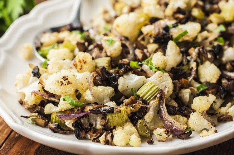Cauliflower Holiday Stuffing