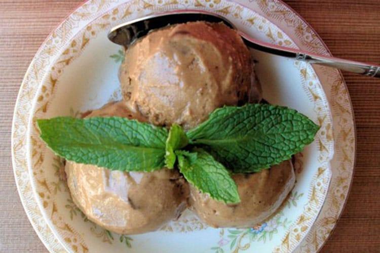 Chocolate Mint Tea Ice Cream