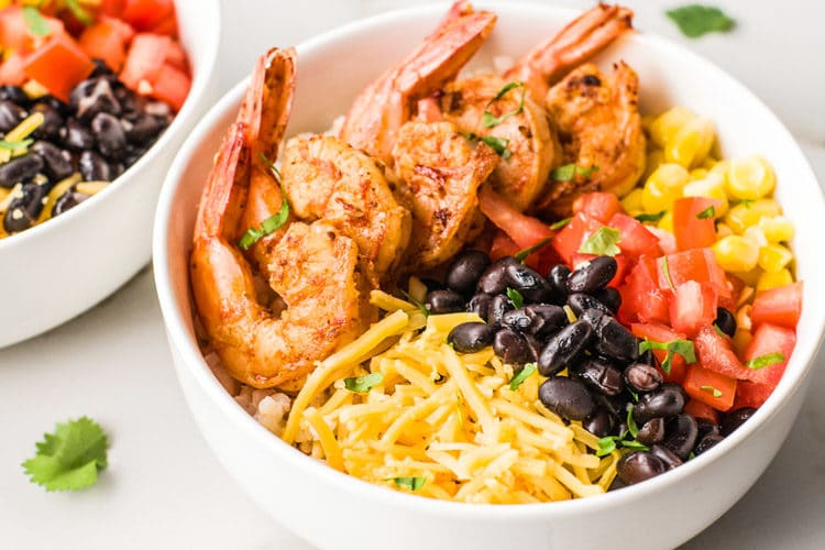 Easy Meal Prep Ideas Shrimp Taco Bowls