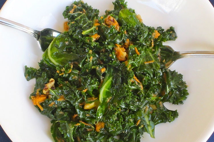 Kale Slaw with Toasted Walnuts