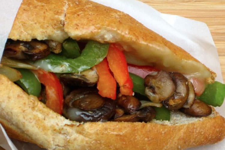 Philly Cheese & Veggie Sandwich