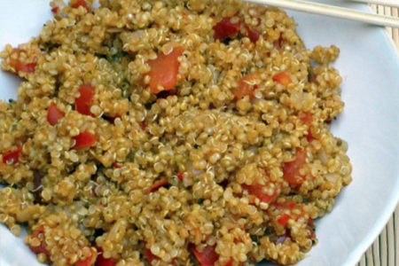 Quinoa with Garden Fresh Tomatoes