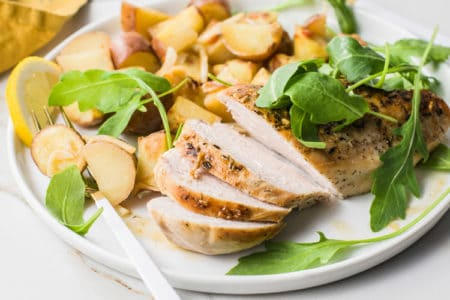 Skillet Lemon Chicken Breast Dinner