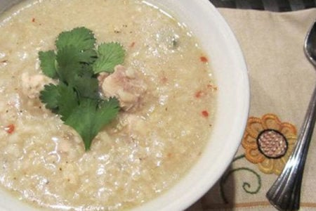 Slow Cooker Chicken and Rice Soup with a Twist