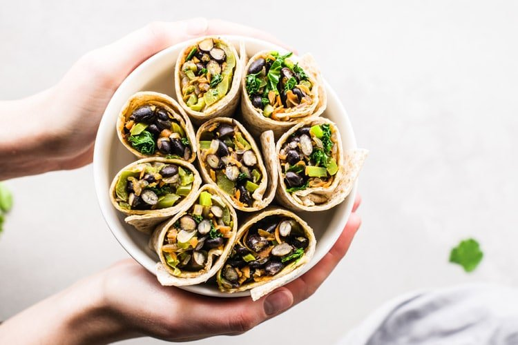 Vegan Southwest Veggie Wraps