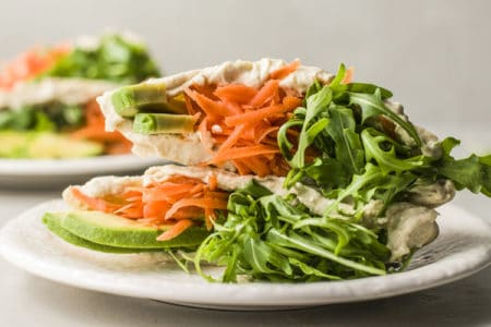Carrot and Hummus Pita Pockets | Plant Based Recipe
