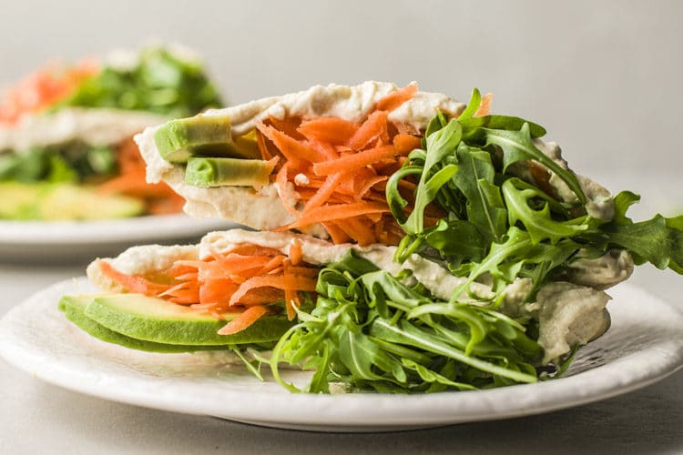 Carrot And Hummus Pita Pockets Plant Based Recipe