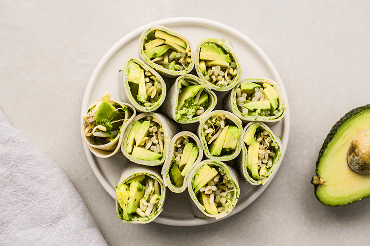 Summer 15 Fast and Easy Snacks Turkey Avocado Roll-ups