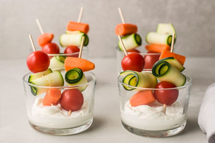 Vegetable Skewer Cocktail Recipe
