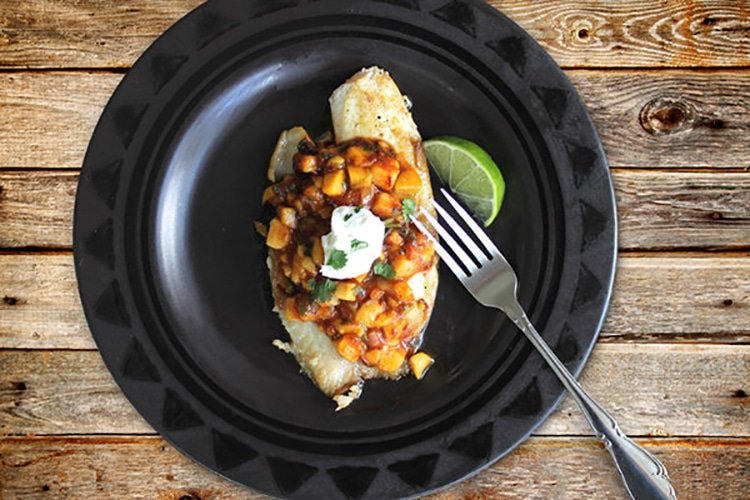 Baked Tilapia with Spicy Tropical Salsa