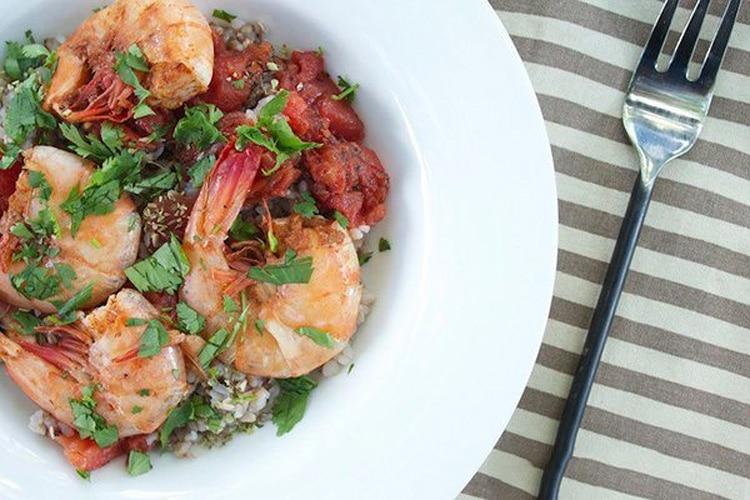 Cajun Shrimp with Herbed Brown Rice