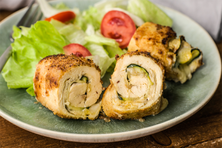 Chicken Zucchini Roll Ups