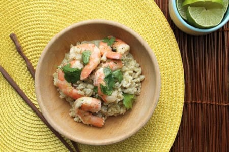 Green Curry Shrimp with Coconut Broth