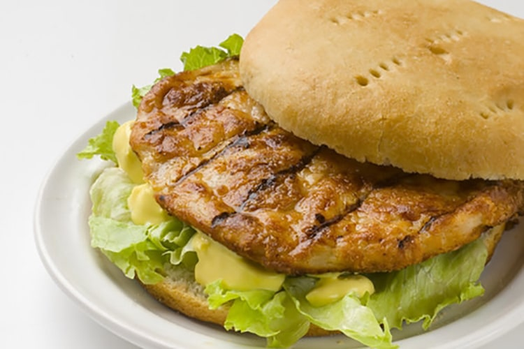 Hawaiian Chicken Burger with Nut Relish