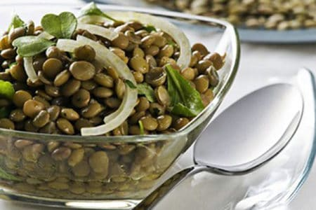 Herby Lemony French Lentil Salad
