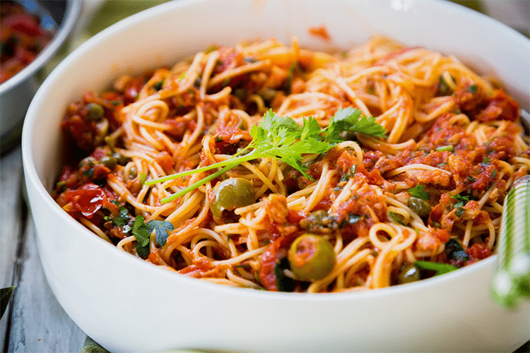 Mediterranean Angel Hair Pasta