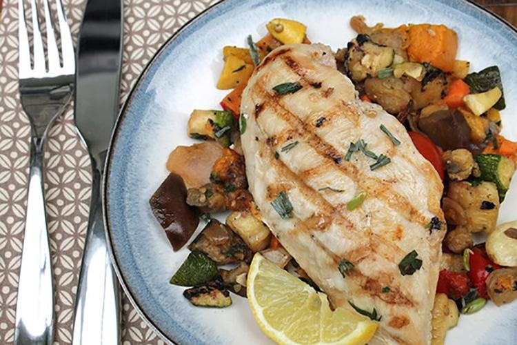 Mediterranean Grilled Chicken and Vegetables