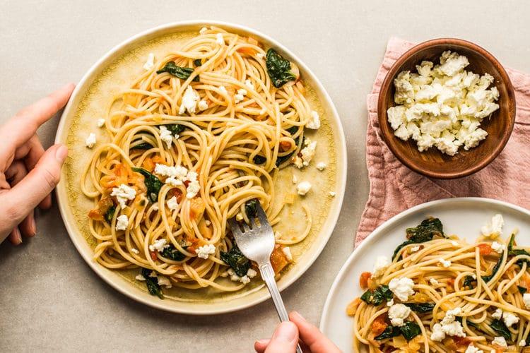 Mediterranean Style Greek Pasta