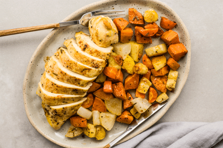 One-Pan Rosemary Chicken and Root Vegetables