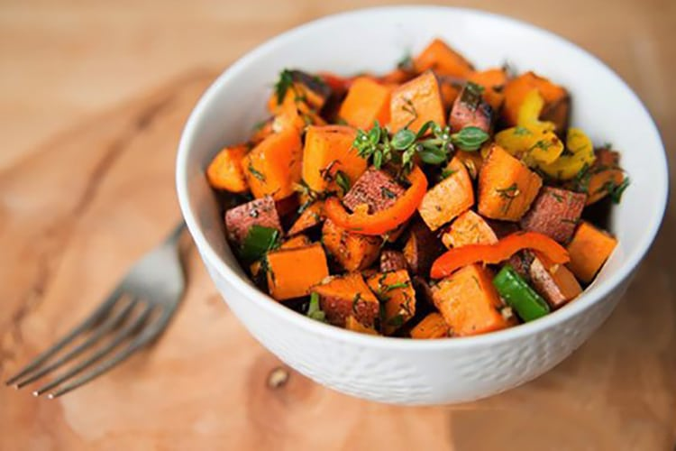 Roasted Sweet Potatoes Two Ways- Candied Maple or Herby & Savory