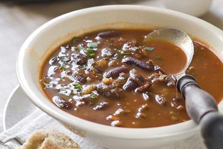 Slow Cooker Fiesta Beef Soup